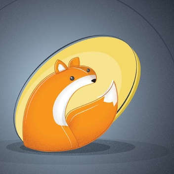 Cute Fox Illustration - Free vector #205837