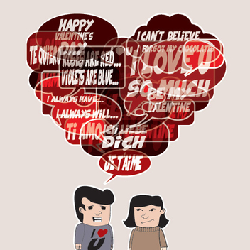 Valentine's Dialogue - Free vector #205897