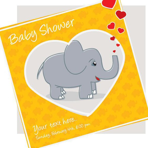 Baby Shower Invitation - vector gratuit #205927