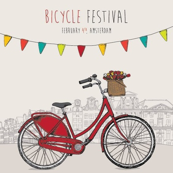 Bicycle Festival - vector gratuit #205937