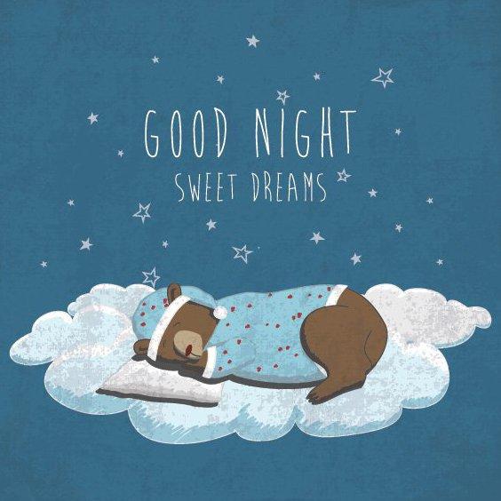 Bonne nuit - Free vector #205947