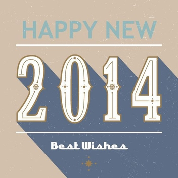 Retro 2014 Card - Free vector #205957