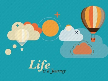 Life is a Journey - vector gratuit #206097