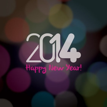 Happy New 2014 - vector gratuit #206137