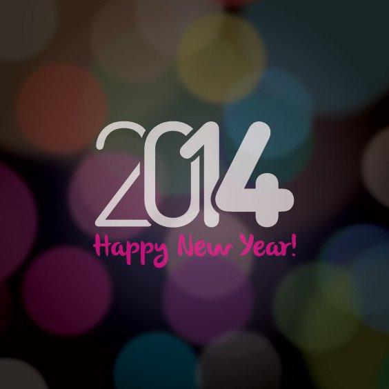Happy New 2014 - Free vector #206137