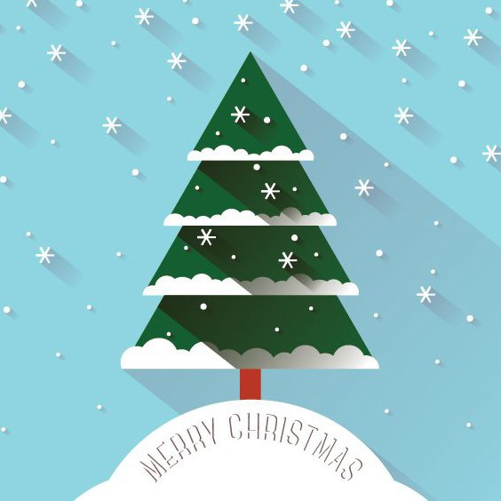 Рождественский снег - бесплатный vector #206227