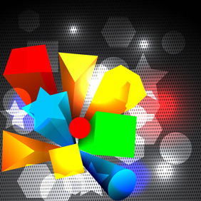 Abstract 3d Vector - Free vector #206387