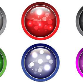 Buttons Vector - vector #206427 gratis