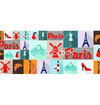 Free travel and tourism icons paris vector - Free vector #206727