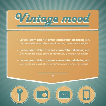 Vintage Mood - vector #206837 gratis