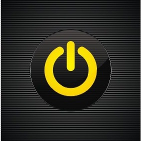Glass Power Button - vector #207157 gratis