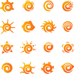 Sun Logo Elements - Free vector #207297