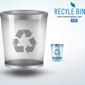 Recycle Bin Icon - vector gratuit #207437