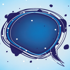 Blue Speech Bubble - vector gratuit #207637