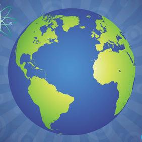 Glossy Globe - vector gratuit #207757