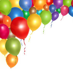 Flying Balloons - Free vector #207807