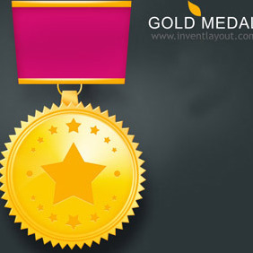 Gold Medal 2 - Free vector #207877