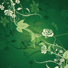 Dark Green Foliage Background - Free vector #208027