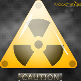 Radioactivity Sign - vector gratuit #208177