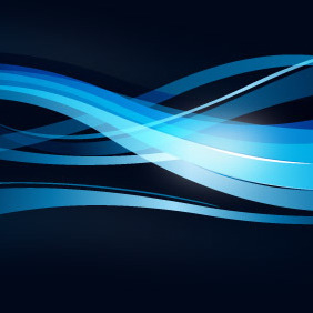 Wavy Blue Lines Background - vector gratuit #208197