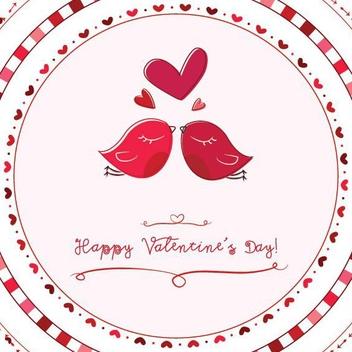 Valentine Love Birds - Free vector #208267