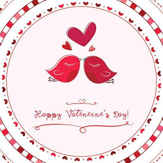 Valentine Love Birds - Free vector #208267
