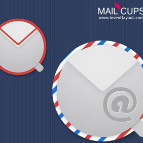 Mail Cups - vector gratuit #208307