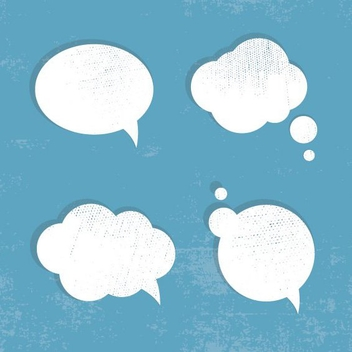 Grunge Speech Bubbles - vector #208327 gratis