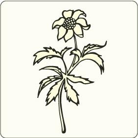 Flower 1 - бесплатный vector #208397
