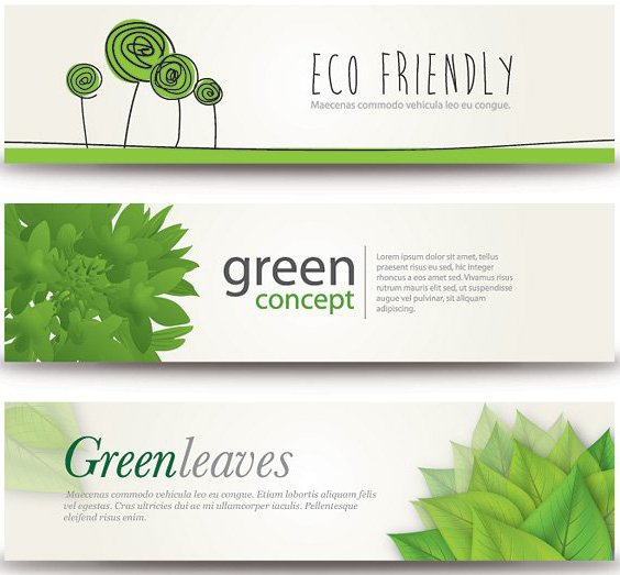 Eco Banners - Free vector #208447