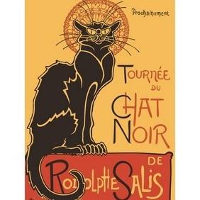 Theophile Steinlen - Le Chat Noir - vector #208507 gratis