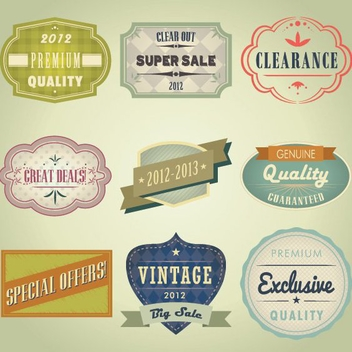 Vintage Badges - Free vector #208797
