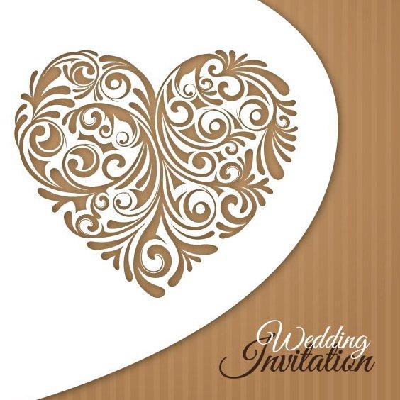 Hochzeit Einladungskarte - Kostenloses vector #209107