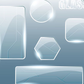 Glass Elements - vector #209247 gratis