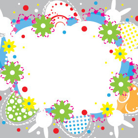 Easter Colorful Card Design - Free vector #209337