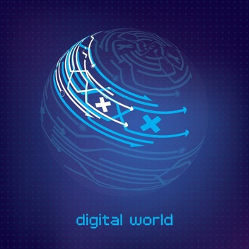 Digital World - vector gratuit #209367