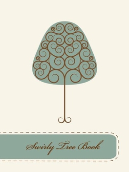 Swirly Tree Book - vector gratuit #209387