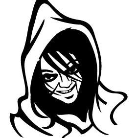 Scary Face Vector - Free vector #209407