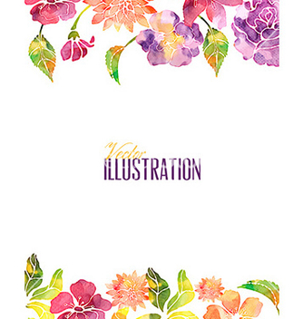 Free watercolor with fllower vector - Kostenloses vector #209577