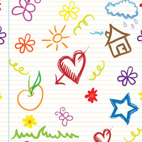 Kids Seamless Pattern 1 - vector gratuit #209647