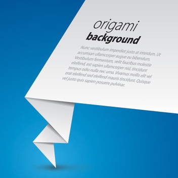 Origami Background - vector gratuit #209737