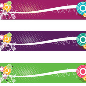 Three Colored Banner Free Design - Free vector #209937