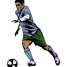 Soccer Player Vector Artwork - Free vector #209967