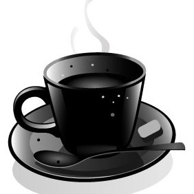 Cup Of Coffee Vector Image - Kostenloses vector #209987