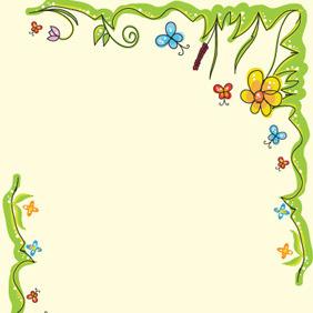 Spring Floral Frame - Free vector #210017