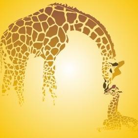 Giraffe Family - Kostenloses vector #210137