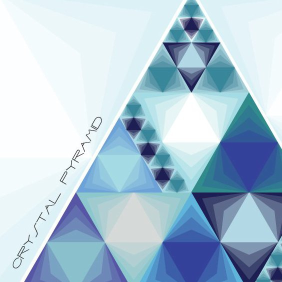 Pyramide de cristal - vector gratuit #210187