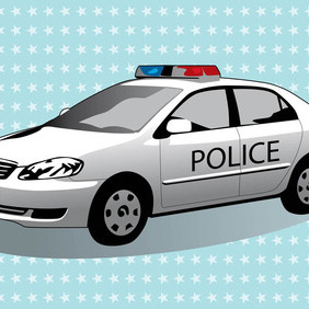 Police Car - vector #210297 gratis
