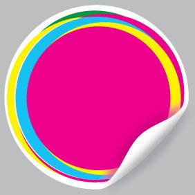 Pink Vector Sticker - Kostenloses vector #210337