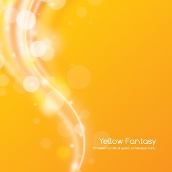 Yellow Fantasy - Free vector #210397